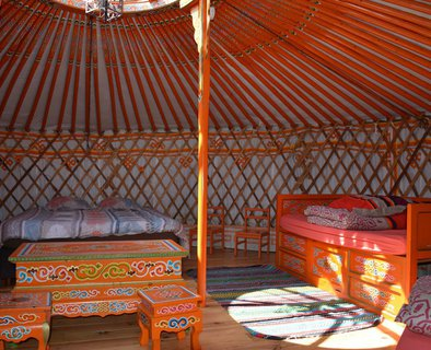 Yurt of the equestrian centre
